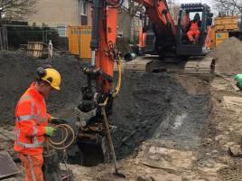 Aanleg drainage-transportriool Linquenda-D te Nieuw-Vennep